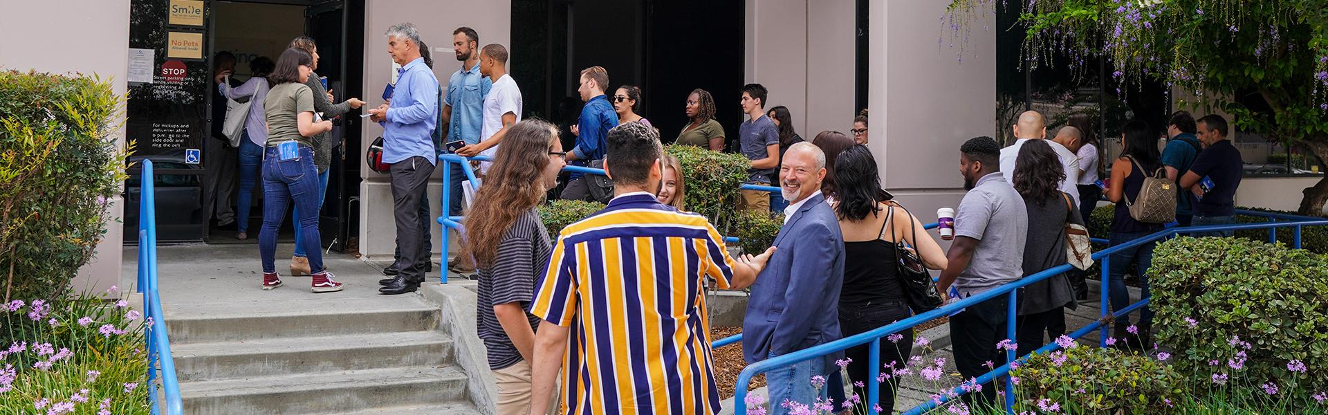 Registration at Central Casting Los Angeles