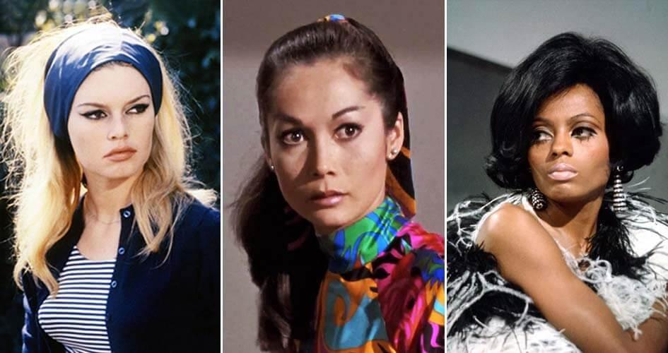 Brigitte Bardot, Nancy Kwan, Diana Ross.
