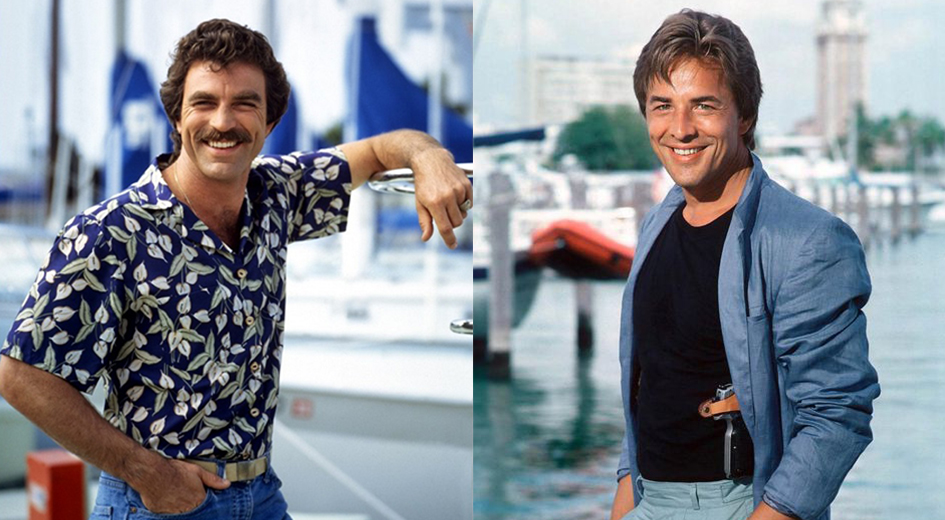 Tom Selleck and Don Johnson