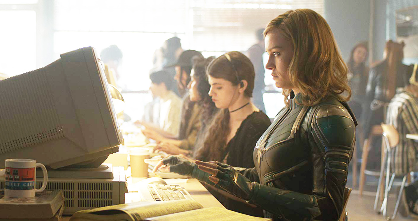 Background Actors at an internet cafe in Captain Marvel