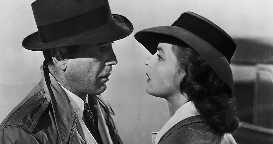 Humphrey Bogart and Ingrid Berman in Casablanca