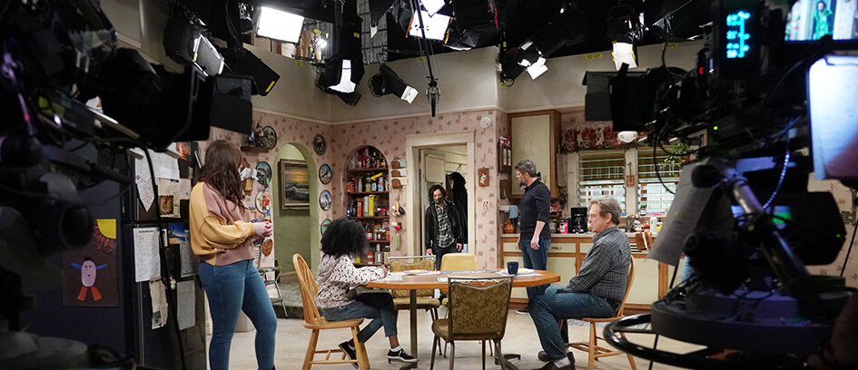 Behind the scenes of the fall TV series The Conners.