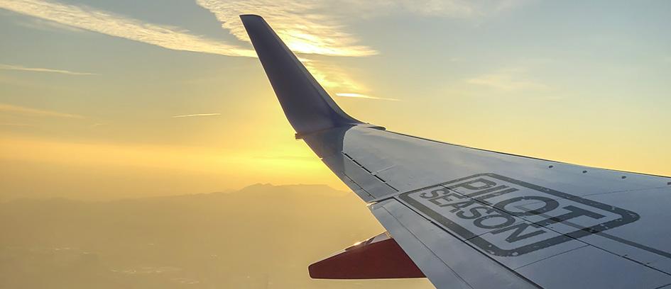 Airplane with pilot season graphic