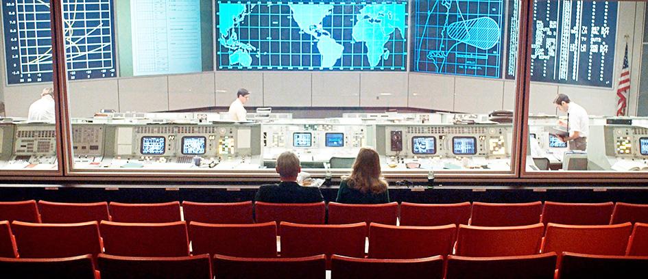 NASA control room TV set