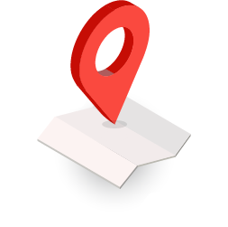 Illustration of map and red locator symbol